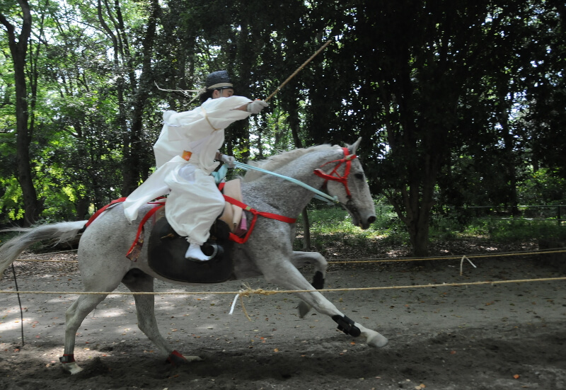 The horse race at Shimogamo shrine on May 15.