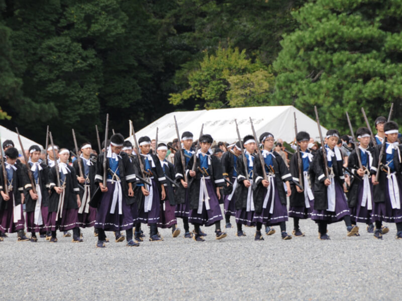 A group of Japanese Imperial soldiers of the early Meiji period.