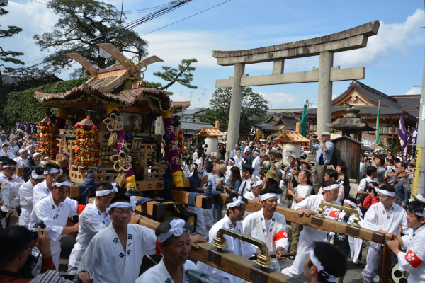 The Zuiki Matsuri of Kitano Tenmangu Shrine is the most fun festival of the year.