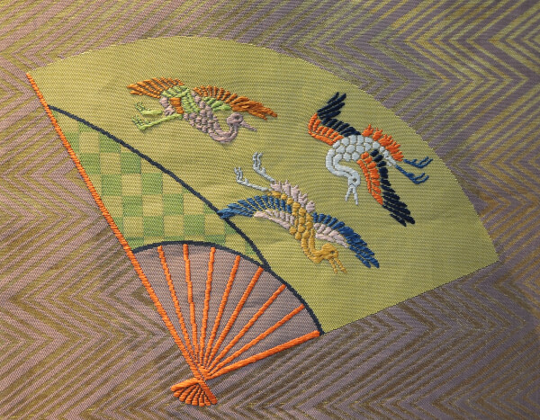 Detail of a robe for Noh theater.