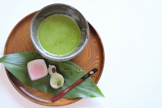 Traditional matcha and sweet.