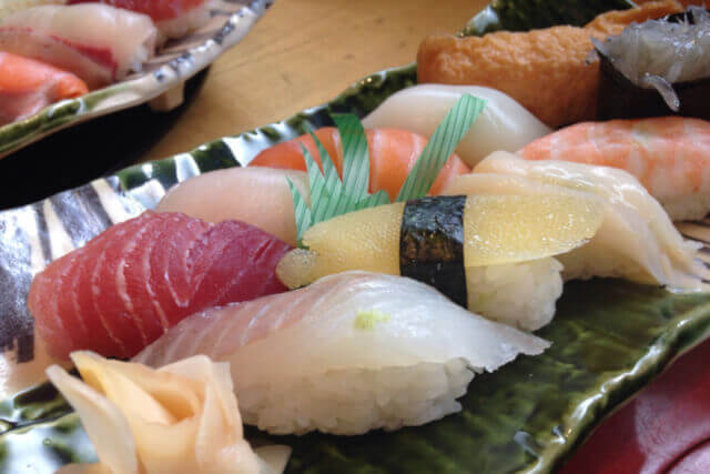 The best Japanese food: sushi.